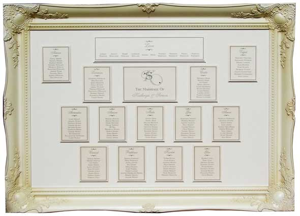 Table plan frame kallkwik fleet street for How to display picture frames on a table