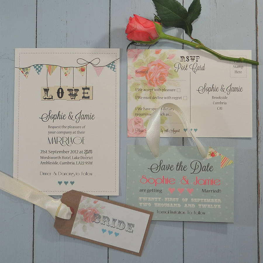 original_country-bunting-wedding-stationery-range | KallKwik Fleet ...