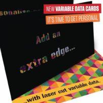 NEW Laser cut variable data printing