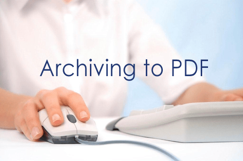 Archiving to PDF